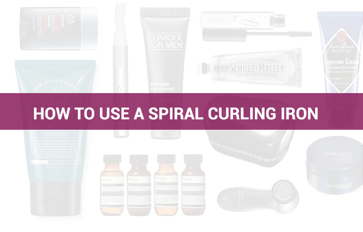 How to use a spiral curling iron