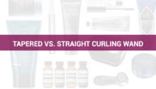 Tapered vs. straight curling wand