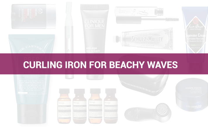 What size curling iron should you buy for beachy waves